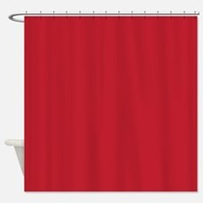 Cardinal Red Solid Color Shower Curtain