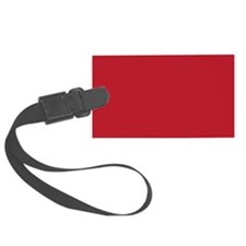 Cardinal Red Solid Color Luggage Tag