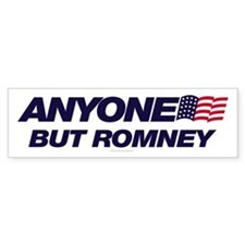 Anyone But Romney Bumper Bumper Sticker