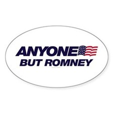 Anyone But Romney Oval Decal