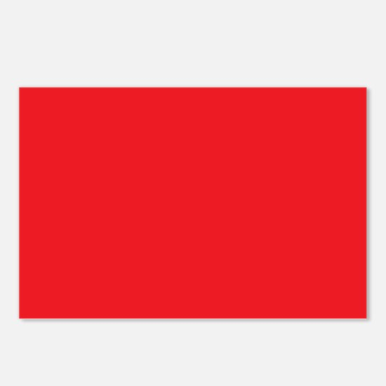 Scarlet Red Solid Color Postcards (Package of 8)
