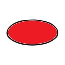 Scarlet Red Solid Color Patches