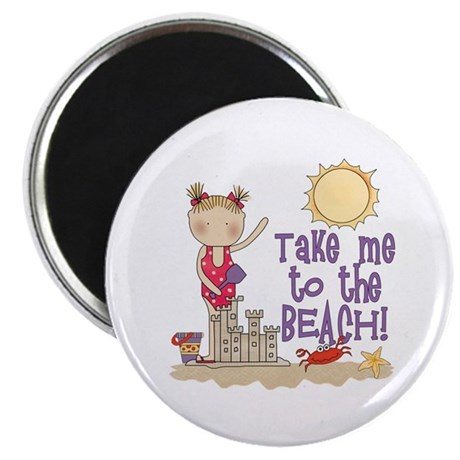 To the Beach (Girl) Magnet