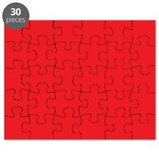 Scarlet Red Solid Color Puzzle