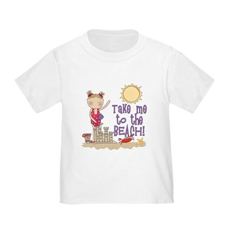 To the Beach (Girl) Toddler T-Shirt