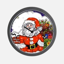 santa 10x10.png Wall Clock