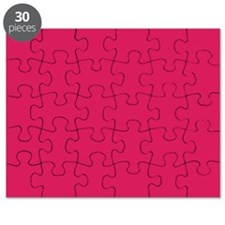 Raspberry Red Solid Color Puzzle