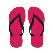 Raspberry Red Solid Color Flip Flops