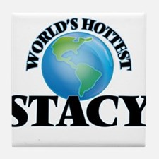 World's Hottest Stacy Tile Coaster
