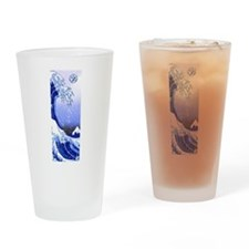 Surf's Up! Great Wave Hokusai Drinking Glass