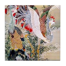 18th C Sun Phoenix Tile Coaster