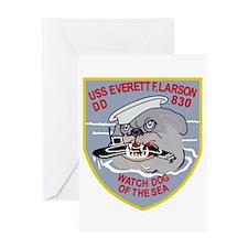 DD-830 USS EVERETT F LARSON Destroy Greeting Cards