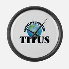 World's Hottest Titus Large Wall Clock