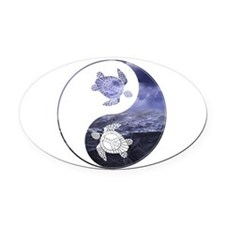 YN Turtle-01 Oval Car Magnet