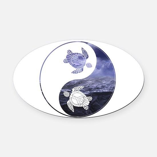 YN Turtle-01 Oval Car Magnet