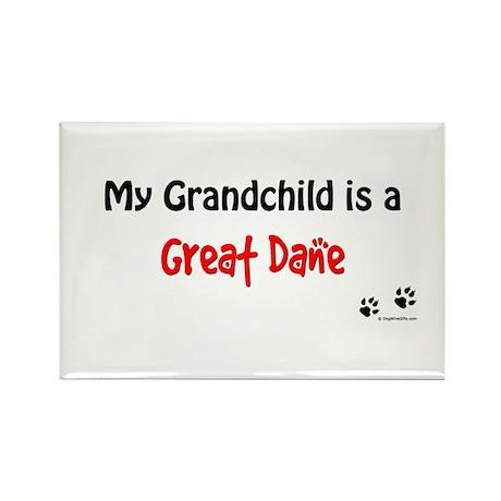 Great Dane Grandchild Rectangle Magnet