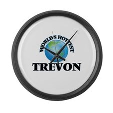 World's Hottest Trevon Large Wall Clock