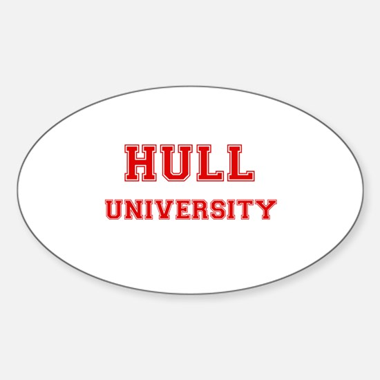 HULL UNIVERSITY Oval Decal