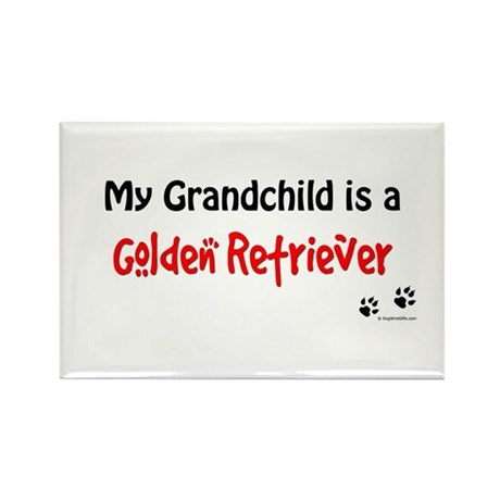 Golden Grandchild Rectangle Magnet