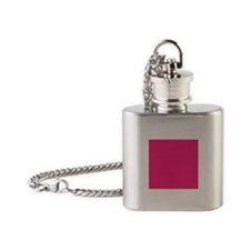 French Rose Pink Flask Necklace