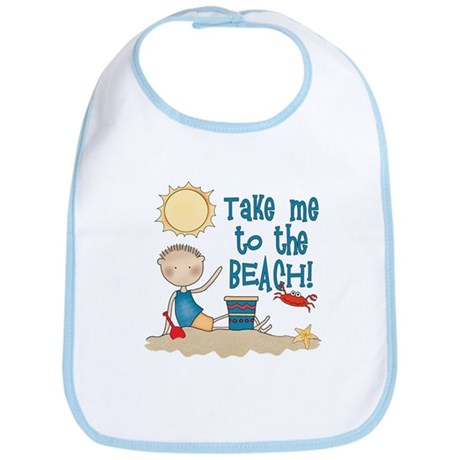 To the Beach (Boy) Bib