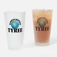 World's Hottest Tyree Drinking Glass