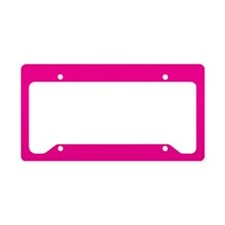 Persian Rose Pink Solid Color License Plate Holder