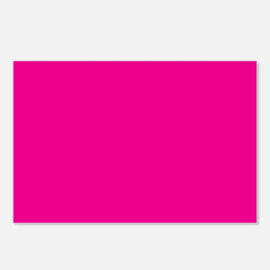 Persian Rose Pink Solid Color Postcards (Package o