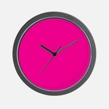 Persian Rose Pink Solid Color Wall Clock