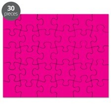 Persian Rose Pink Solid Color Puzzle
