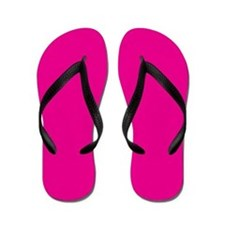 Persian Rose Pink Solid Color Flip Flops