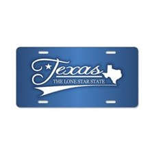Texas State of Mine Aluminum License Plate