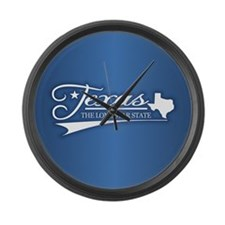 Texas State of Mine Large Wall Clock