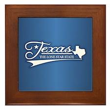 Texas State of Mine Framed Tile