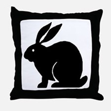 Bunny Rabbit Throw Pillow