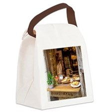 Cute Cafe Canvas Lunch Bag