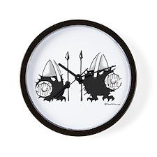 Viking Hedgehogs! Wall Clock