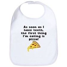 The First Thing Im Eating Is Pizza Bib