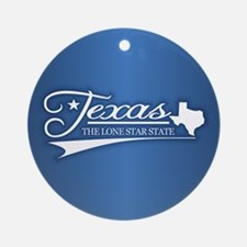 Texas State of Mine Ornament (Round)