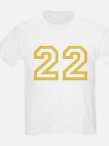 GOLD #22 T-Shirt