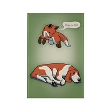 Quick Fox, Lazy Dog Rectangle Magnet