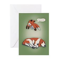 Quick Fox, Lazy Dog Greeting Card