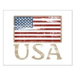 USA Distressed Flag 4th of July Small Poster
