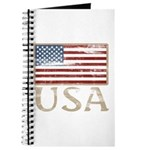 USA Distressed Flag 4th of July Journal