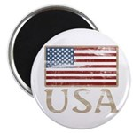 """USA Distressed Flag 4th of July 2.25"""" Magnet (100"""