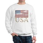 USA Distressed Flag 4th of July Sweatshirt