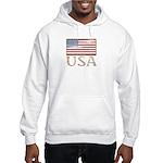 USA Distressed Flag 4th of July Hooded Sweatshirt