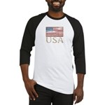 USA Distressed Flag 4th of July Baseball Jersey