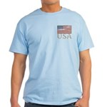 USA Distressed Flag 4th of July Light T-Shirt