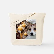Sable Holiday Corgi Tote Bag